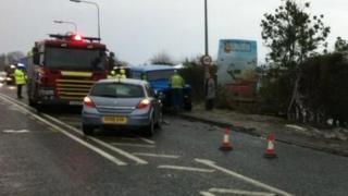Crash scene in Ganstead
