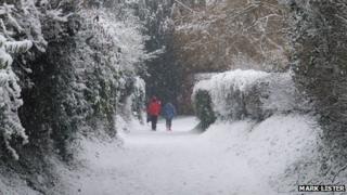 Snowy Calne scene by Mark Lister