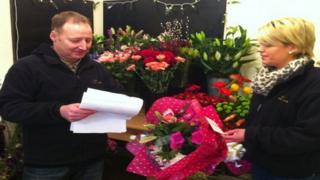 Florists Anthony Benson and Clare Forde find making deliveries time-consuming