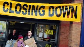 A closed down shop