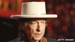 American singer-songwriter Bob Dylan