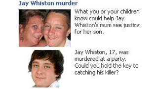 Facebook adverts launched by Essex Police for Jay Whiston