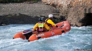 RNLI flood rescue training