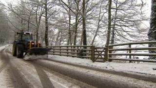 Snow clearing in Derbyshire