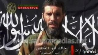 Still from video released by Sahara Media on 21 Jan 2013 of Mokhtar Belmokhtar
