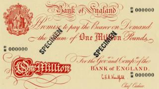 A £1m note