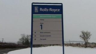 Rolls-Royce sign at Ansty, near Coventry