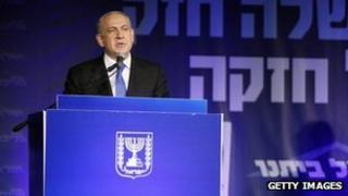 Israeli PM Benjamin Netanyahu speaks to supporters. Photo: 23 January 2013