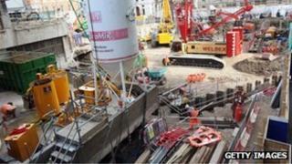 Crossrail construction site