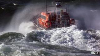 Peel lifeboat courtesy RNLI