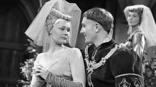 Robert Hardy and Judy Dench in a 1960 production of Henry V