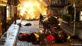 Corrie crash scene