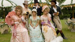 Scene from the film Austenland