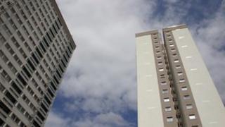 Tower blocks in East London