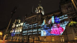 City Chambers projection