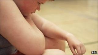 Obese boy