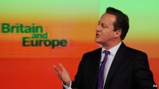 UK Prime Minister David Cameron