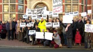 Protesters in Beverley