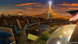 One of three visions of the future by Australian animator Glenn Hatton