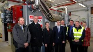 Bio-mass boiler in Manx school