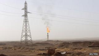 A gas field near Zarzaitine, In Amenas, on 22 January 2013