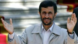 Mahmoud Ahmadinejad (file photo)