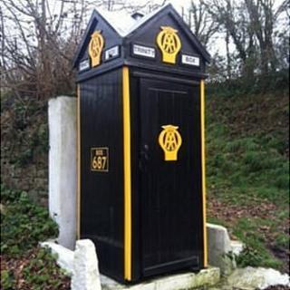 AA call box in Trinity, Jersey