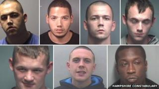 Police images of drugs gang