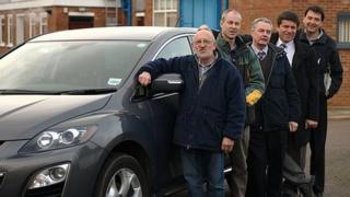 (left to right) Brian Bircham, Mark Custance, Tony Oliver, Jan Noble and Mike Brown