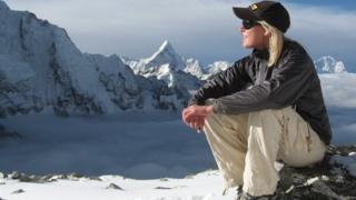 Squash Falconer on Mount Everest