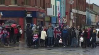 East Belfast road block