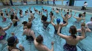 'Swim-in' protest