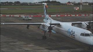 Police bomb disposal officers about to go onboard Flybe flight left open overnight at Guernsey Airport