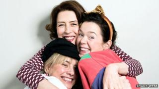 Tamzin Outhwaite, Gina McKee and Anna Maxwell Martin in Di and Viv and Rose by Amelia Bullmore.