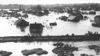 Flooding on Canvey Island