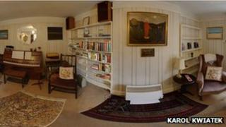Panoramic shot of Charles Causley's house