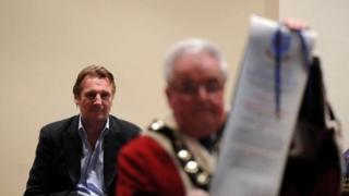 Liam Neeson and the mayor