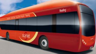 Reading gas-powered bus