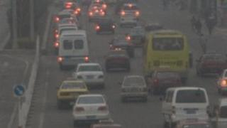Rising pollution has affected traffic in Beijing