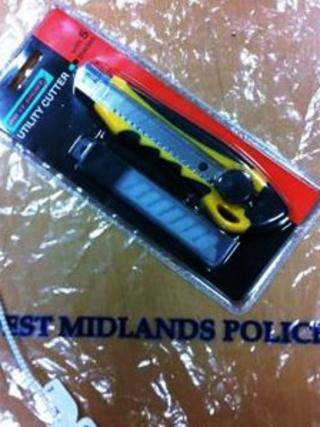 Knife recovered by West Midlands Police