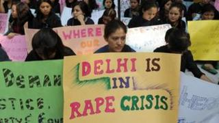 Protesters in Delhi
