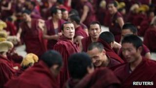 File photo: Monks in Sichuan province