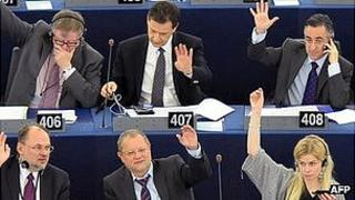MEPs voting in European Parliament - file pic