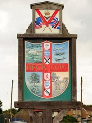 New plaque on Beck Row village sign
