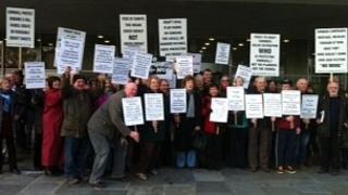 Protest in Truro