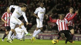 Sunderland v Swansea in January 2012
