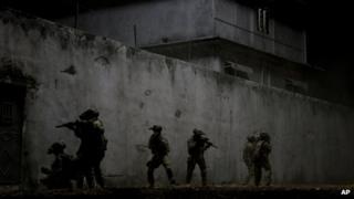 US Seals raid Osama Bin Laden's compound in a scene from Zero Dark Thirty