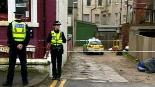 Blackpool crime scene