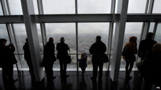 The public look out from the Shard