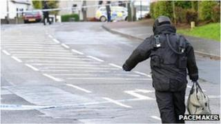 The security alert is on the Doagh Road in Ballyclare